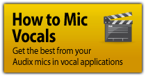 How to Mic Vocals - Audix original videos...